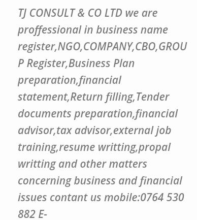 NGO REGISTRATION SET UP,COMPANY REGISTRATION AND BUSINESS NAME