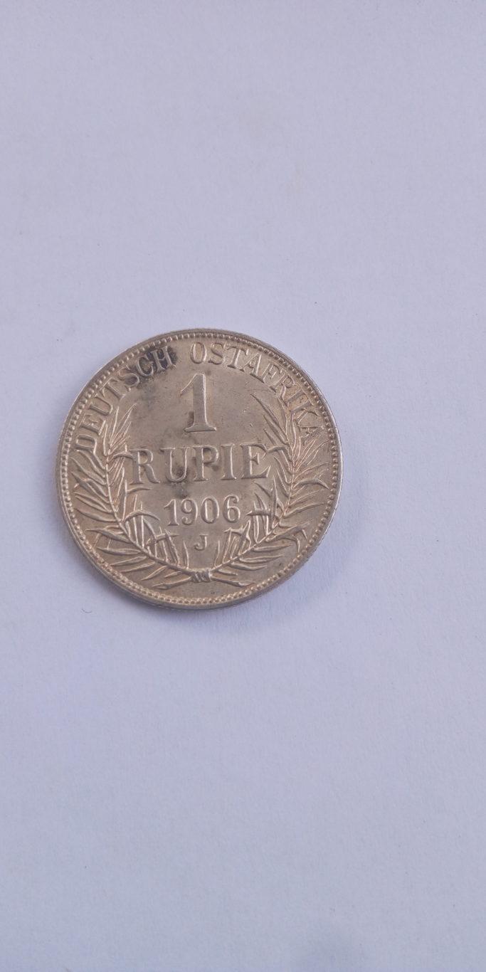 1906 German East Africa 1 Rupie J