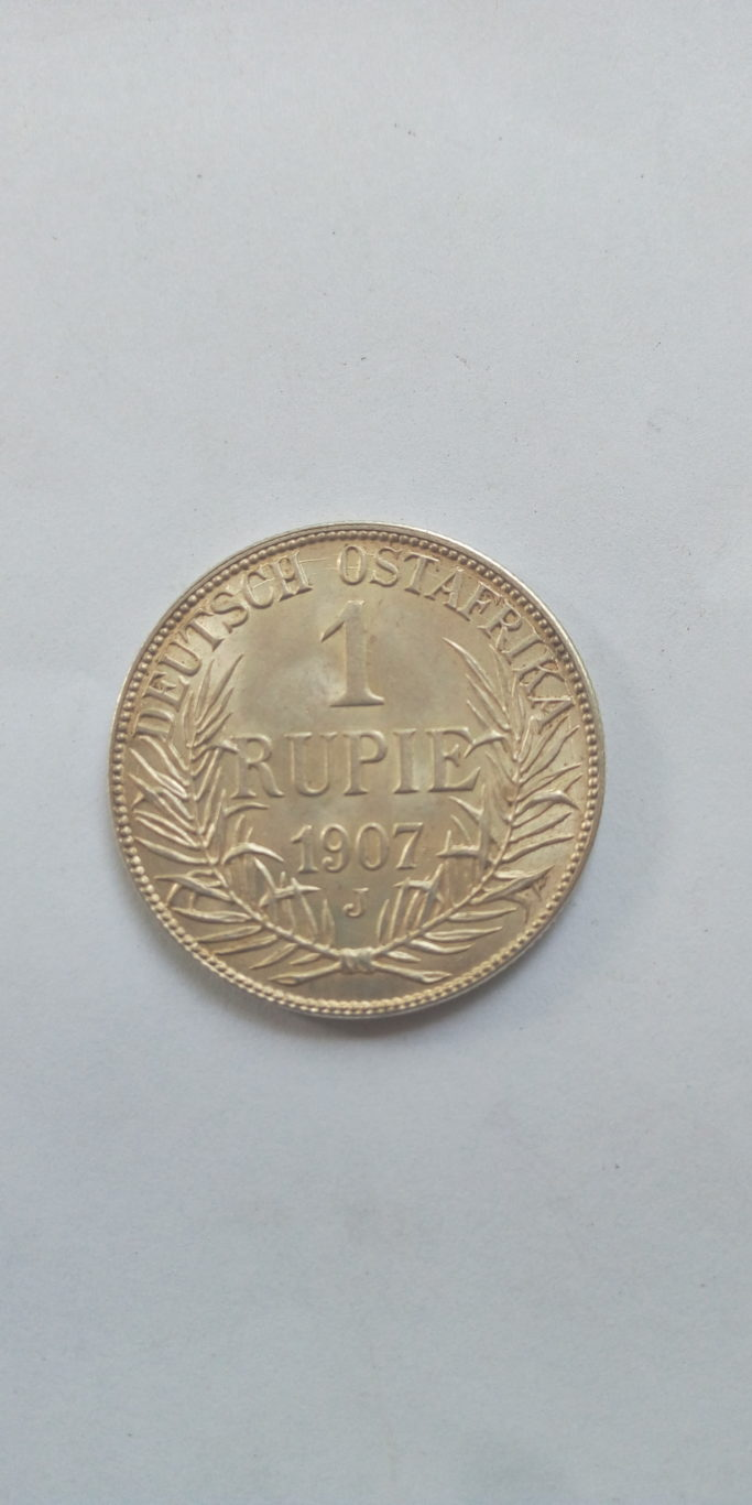 1907 J German East Africa 1 Rupie
