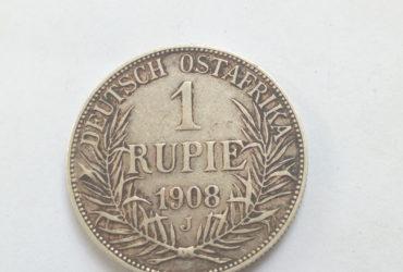 1908 J German East Africa 1 Rupie