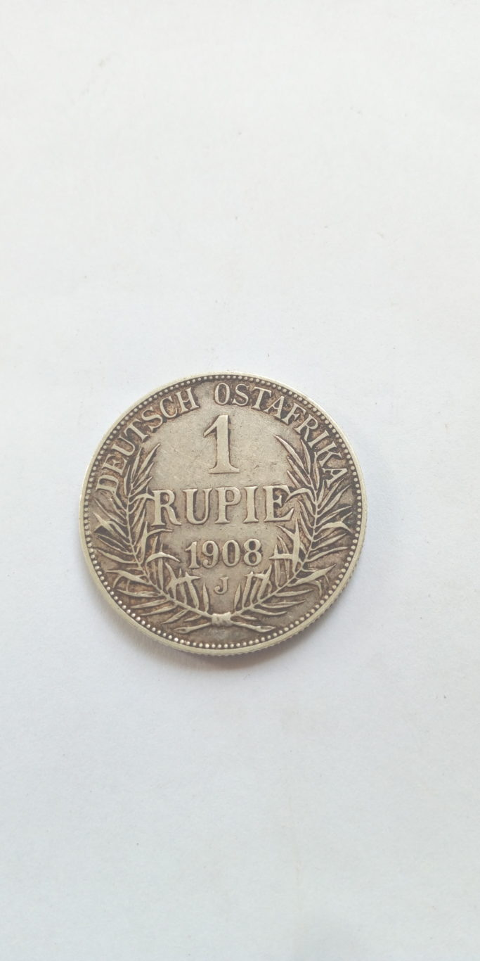 1908 J German East Africa 1 Rupie