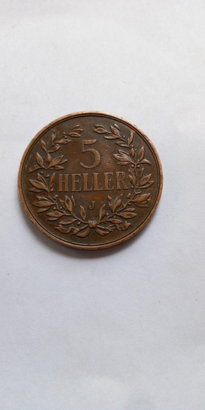 1909  DEUTSCH OSTAFRIKA 5 HELLER