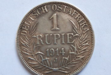 1914  J German East Africa 1 Rupie – HISTORICAL COIN- WORLD WAR MINT