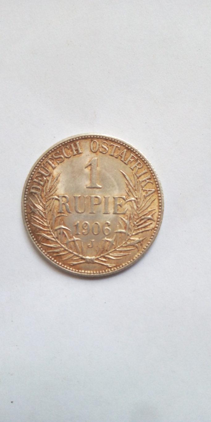 1906 J German East Africa 1 Rupie