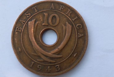 1943 Ten cent British east Africa coin