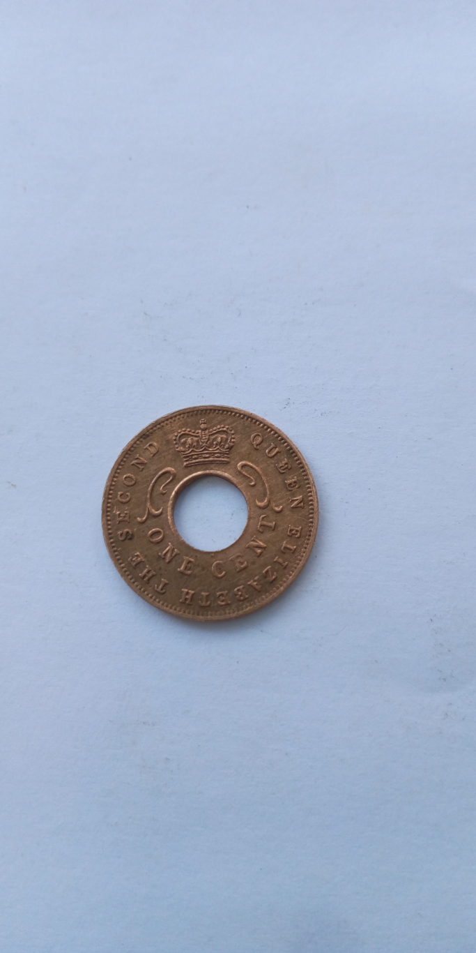 1959 One  cent British east Africa Colonial coins