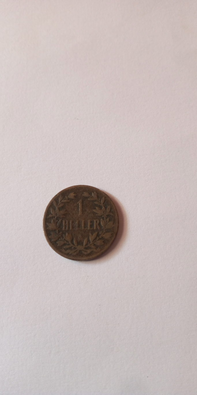 1905 One Heller, German Colonial coin