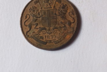 1835 ONE QUARTER ANNA INDIA COMPANY