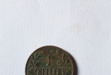 1912DEUTSCH OST AFRIKA 1 HELLER J COLONIAL COIN