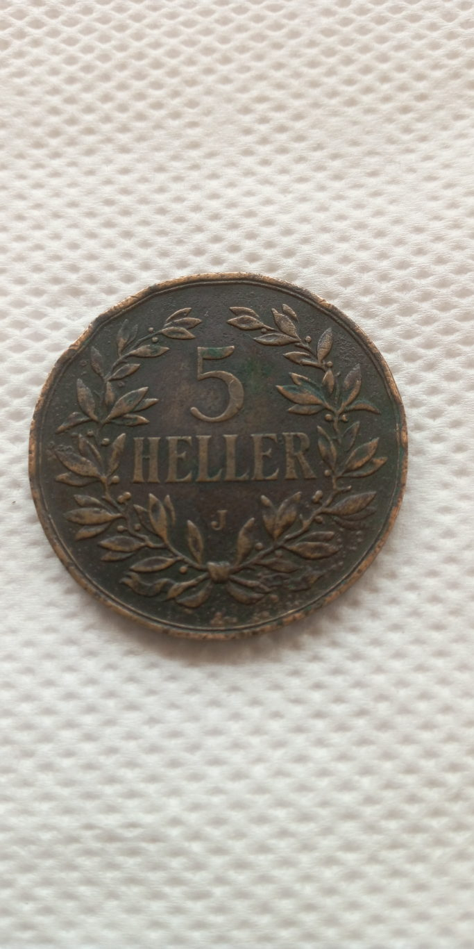 1908 J German East Africa 5 heller . colonial coin