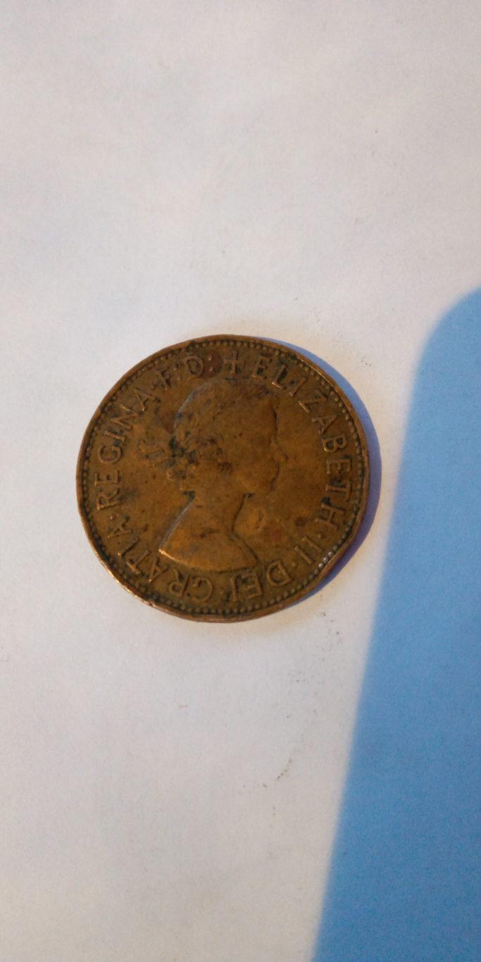1967 one penny , Elizabeth II