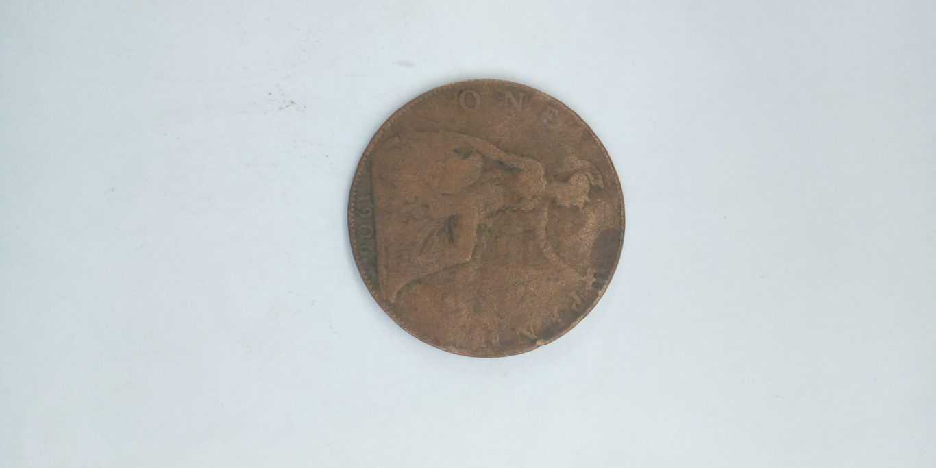 1906 one penny king edward