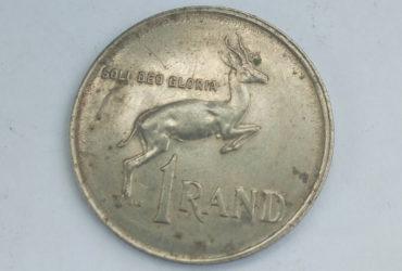1987 suid africa 1 rand ,soli Deo gloria