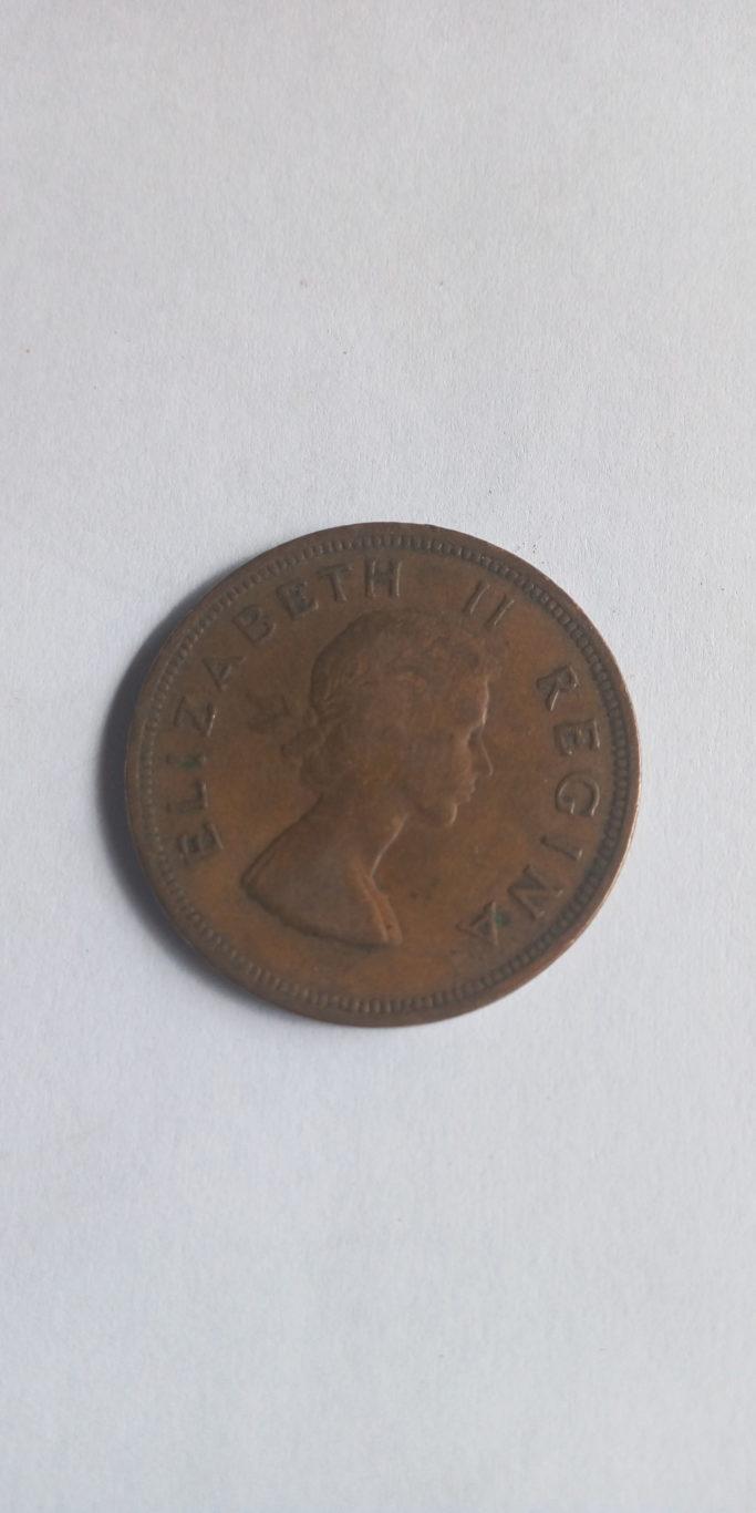 1957 1d  suid afrika elizabeth ii regina
