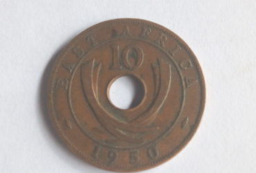 British east africa colonial coin 1950 ten cent