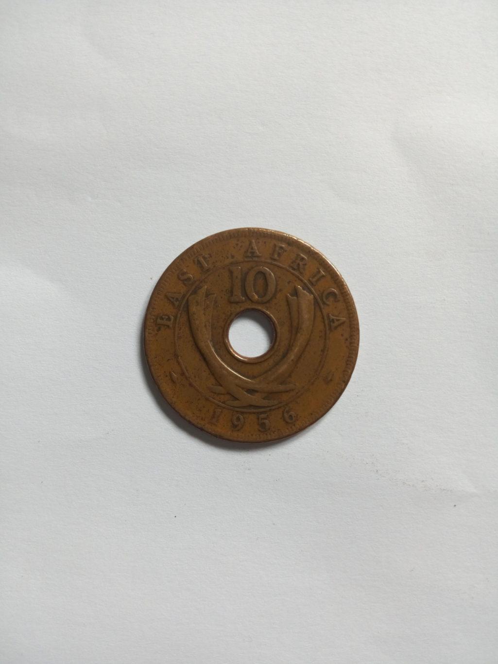 1956_Queen Elizabeth the second  10 cent