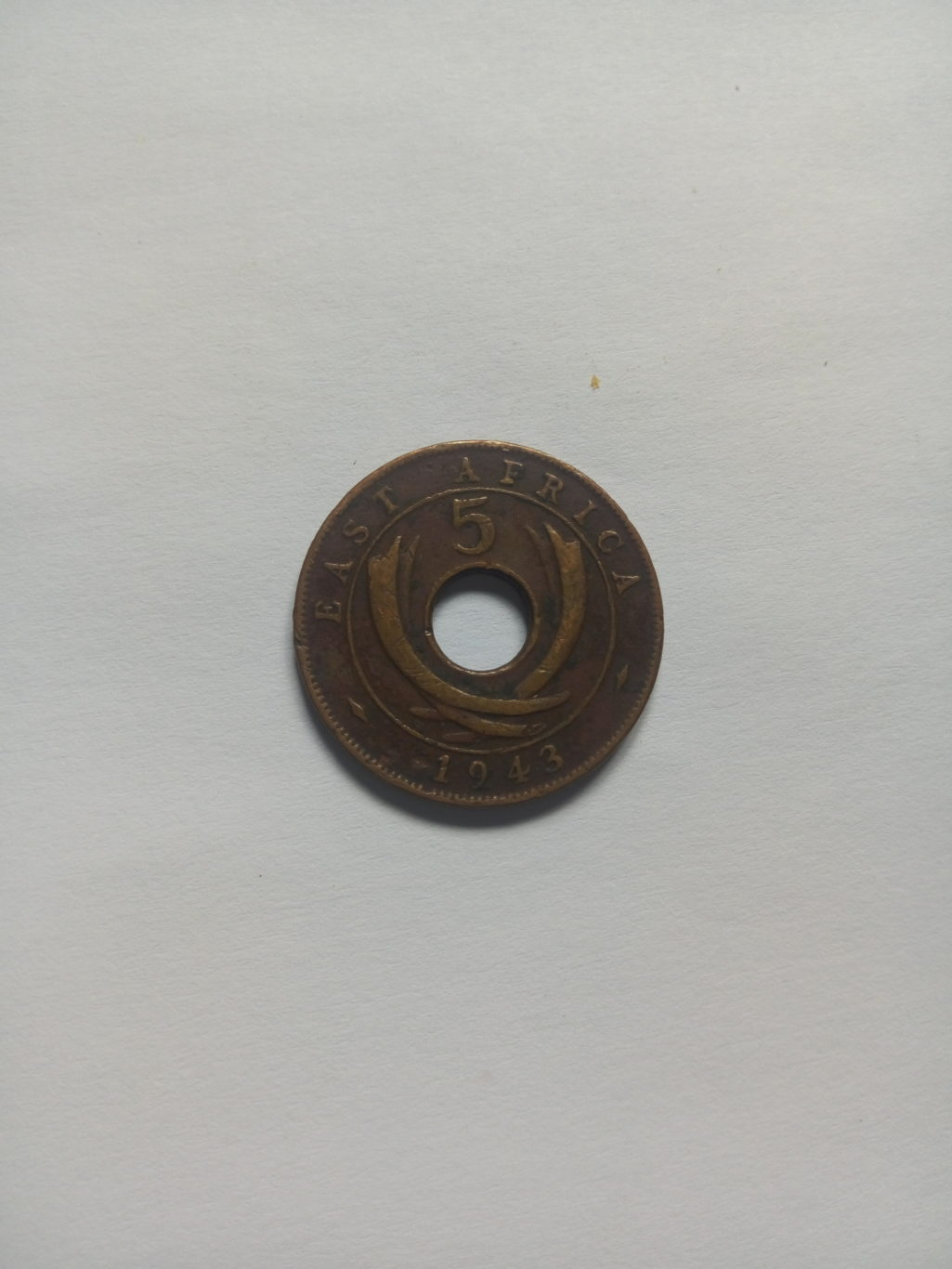 1943_georgivs V1 Rex 5 cents