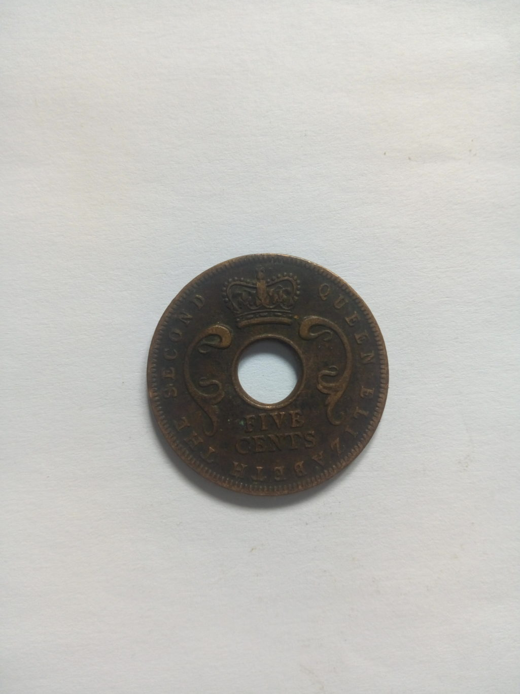1957_queen Elizabeth the second 5 cents