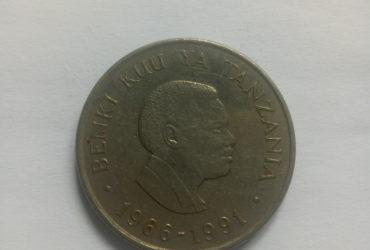 1966_1991 banki kuu ya Tanzania shilingi 25