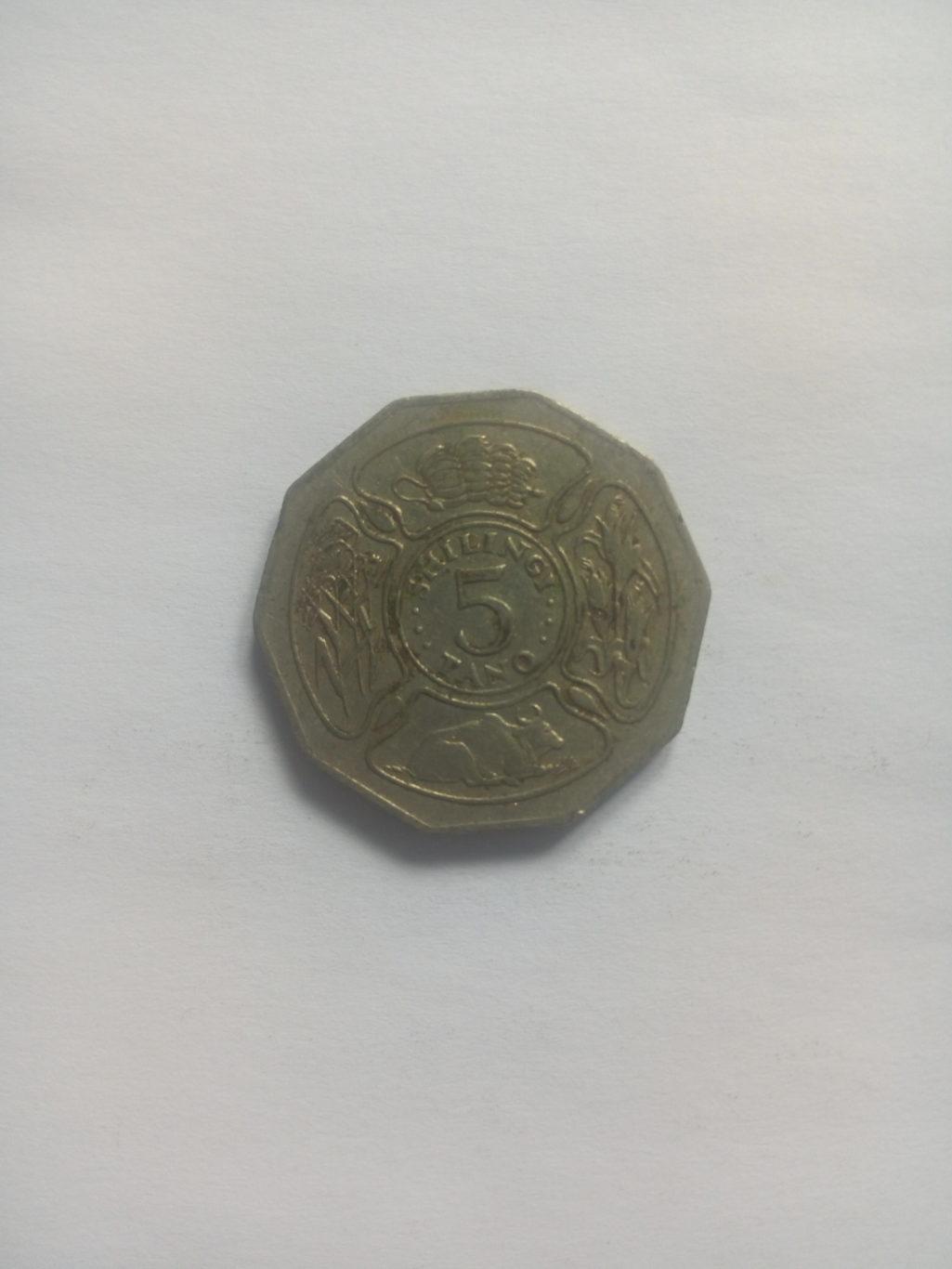 1991_shilingi 5 ya tanzania