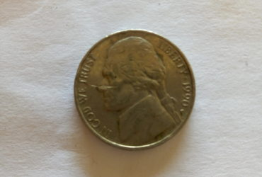 1990_ united states of America 5 cents