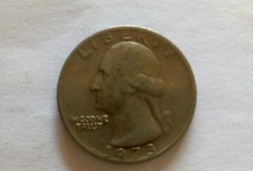 1973_ united states of America quarter dollar