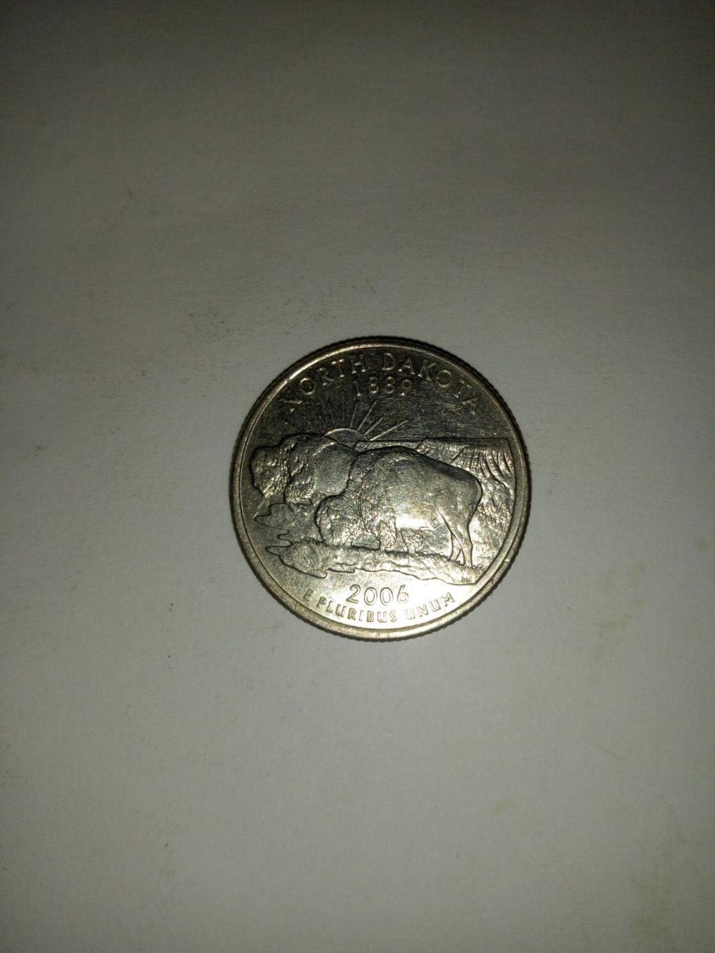 1889_ united states of America quarter dollar