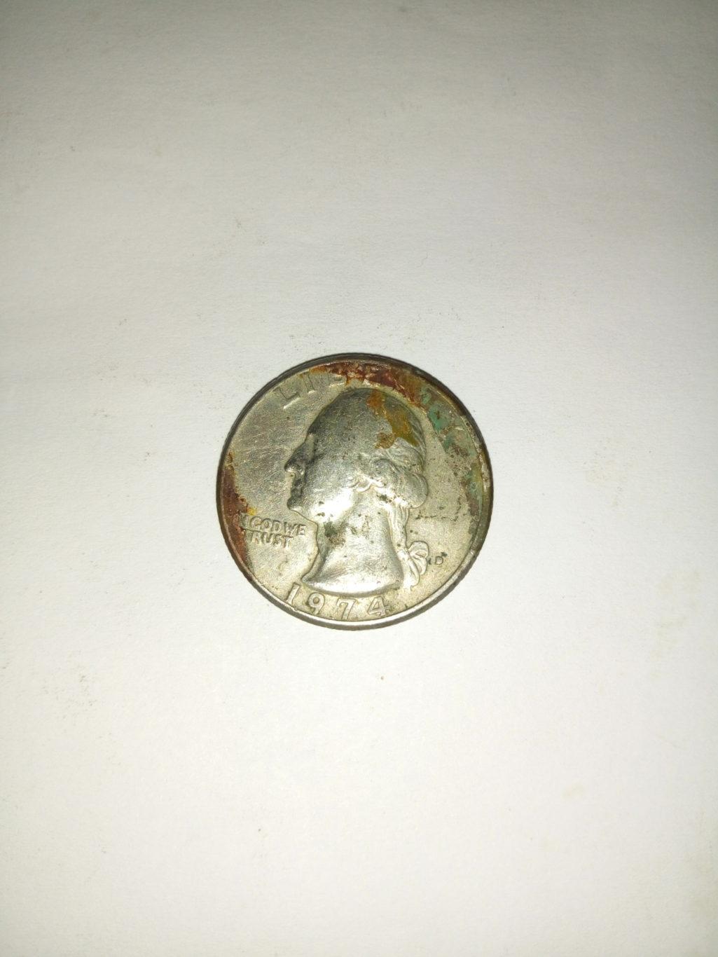 1974_ united states of America quarter dollar