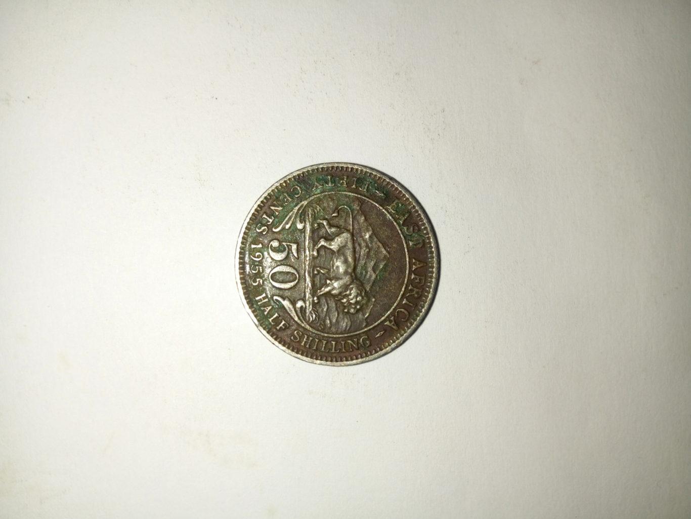 1955_ Queen Elizabeth the second 50 half shilling