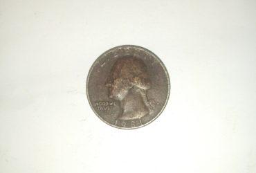 1981_ united states of America quarter dollar