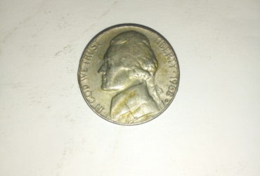 1968_ united states of America 5 cents
