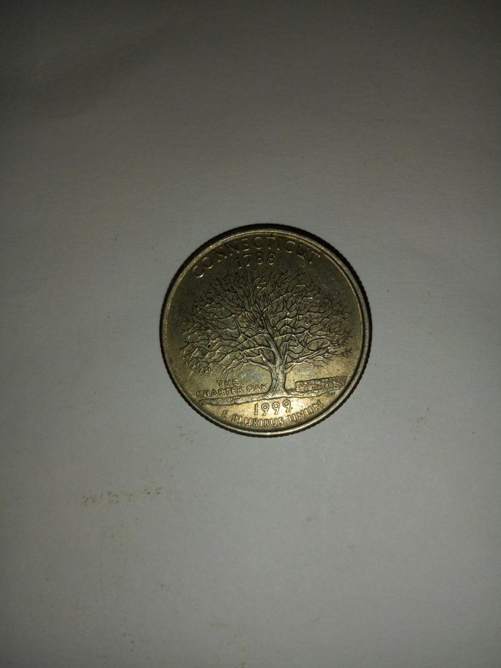 1788_ united States of america quarter dollar