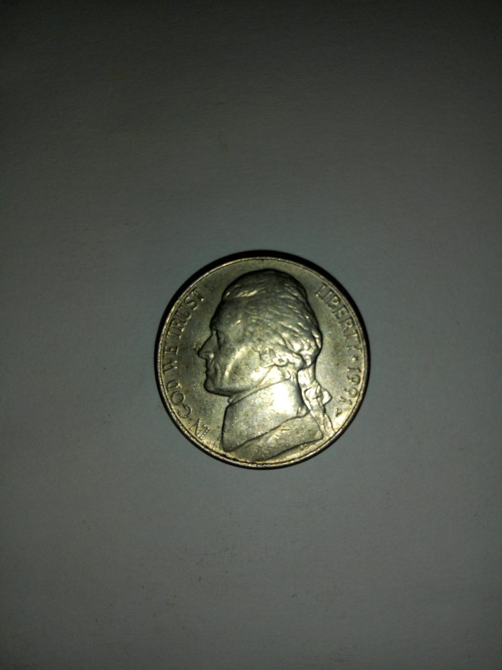 1991_united States of america 5 cents