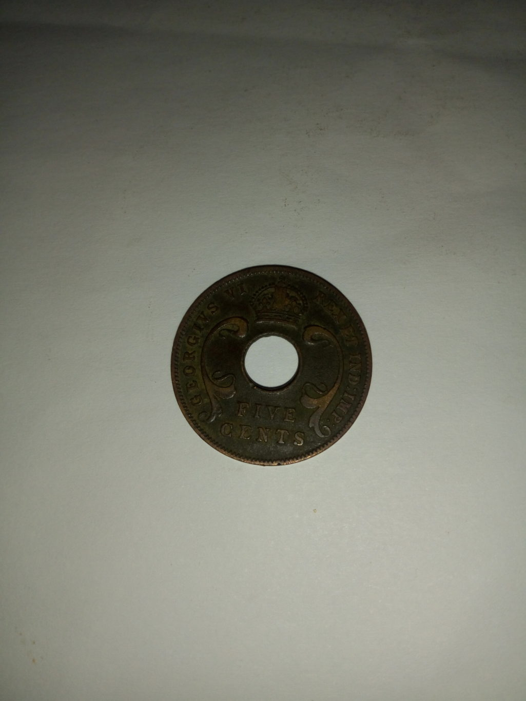 1942_georgivs V1 5 cents