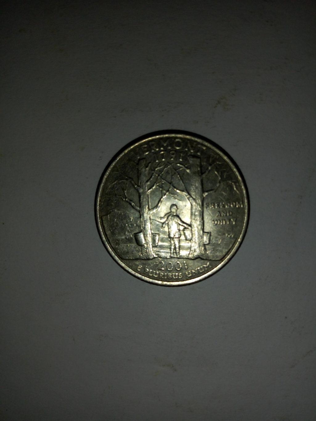 1791_united States of America quarter dollar