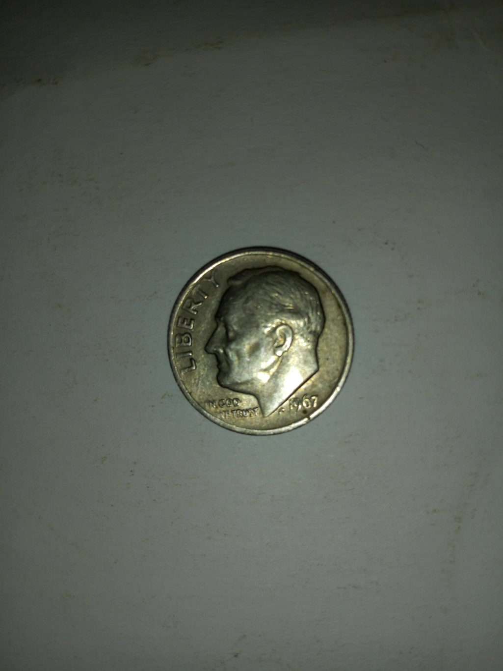 1967_united States of America 1 dime