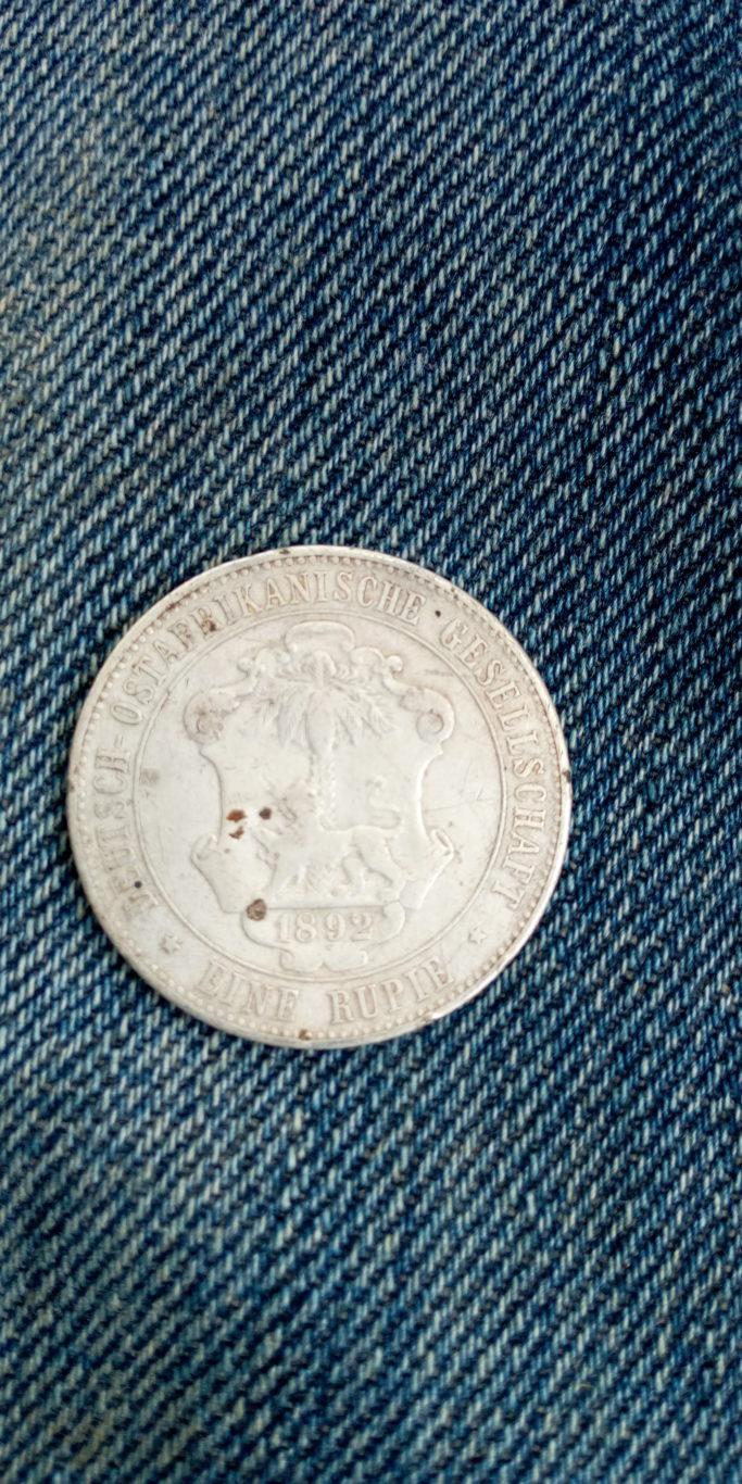1892 German east africa  Eine Rupie.