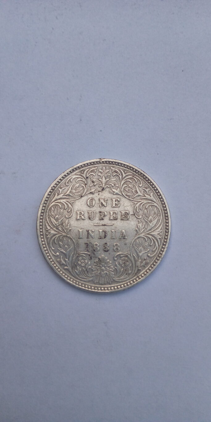 1888 one Rupee India – Queen Victoria coin