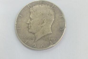 1964 'D' Half Dollar coin
