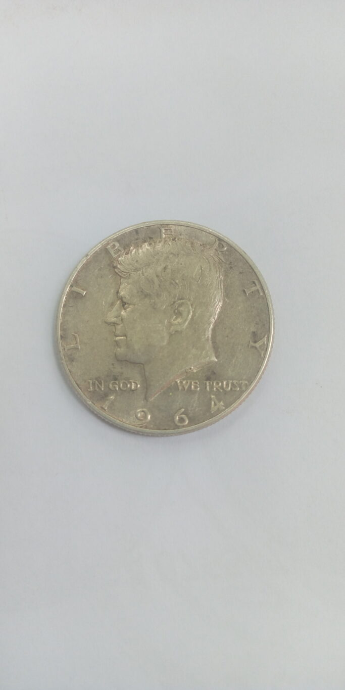 1964 Half Dollar coin ' no mint mark'